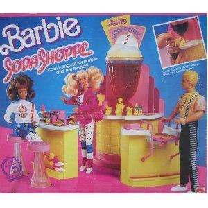 barbie soda shoppe 1989. I spilled so much pop on the carpet because of this!
