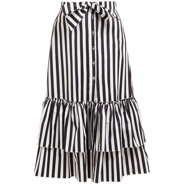 Cheap Sale 100% Authentic Striped tie-waist cotton midi skirt Caroline Constas Order pPpQI