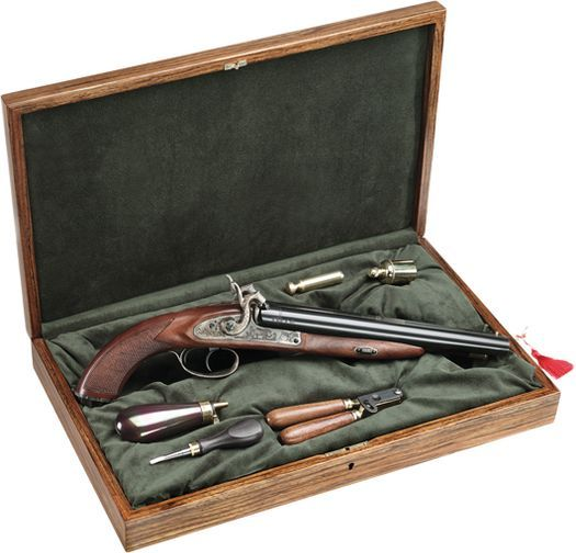 Pedersoli Howdah Hunter 20 Gauge Black Powder Pistol with