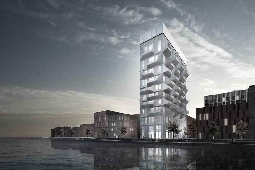 COBE envisions urban silo for copenhagen's nordhavnen district