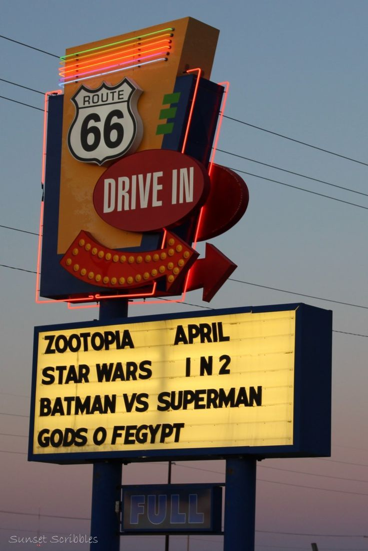 drive in theater on route 66! - springfield, il | neon in 2018