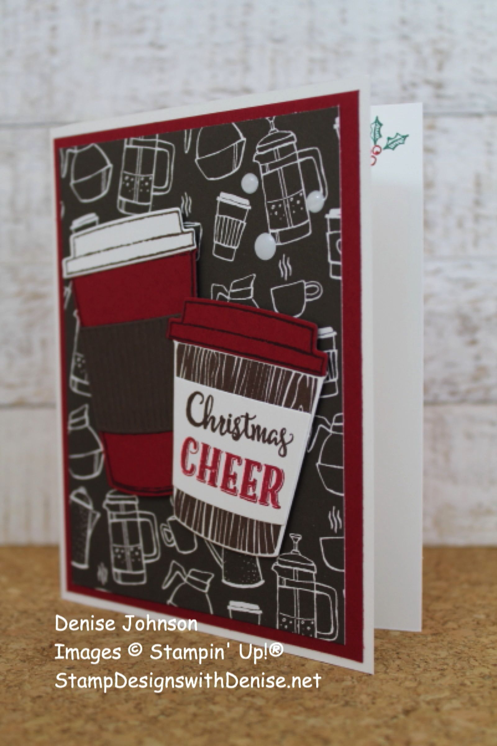 Merry Cafe Christmas Cheer Card Cafe cards, Cheers card