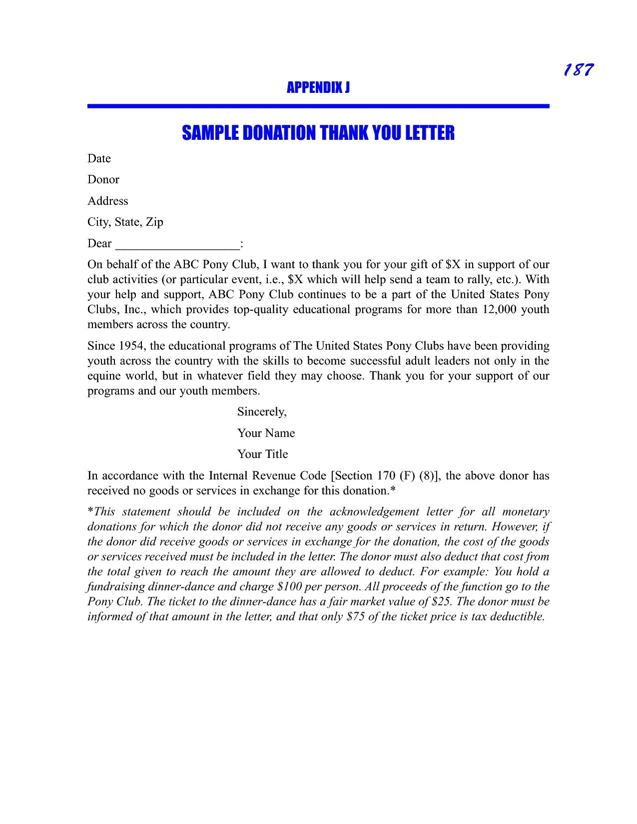 Donation Thank You Letter Best Business Template For Charitable