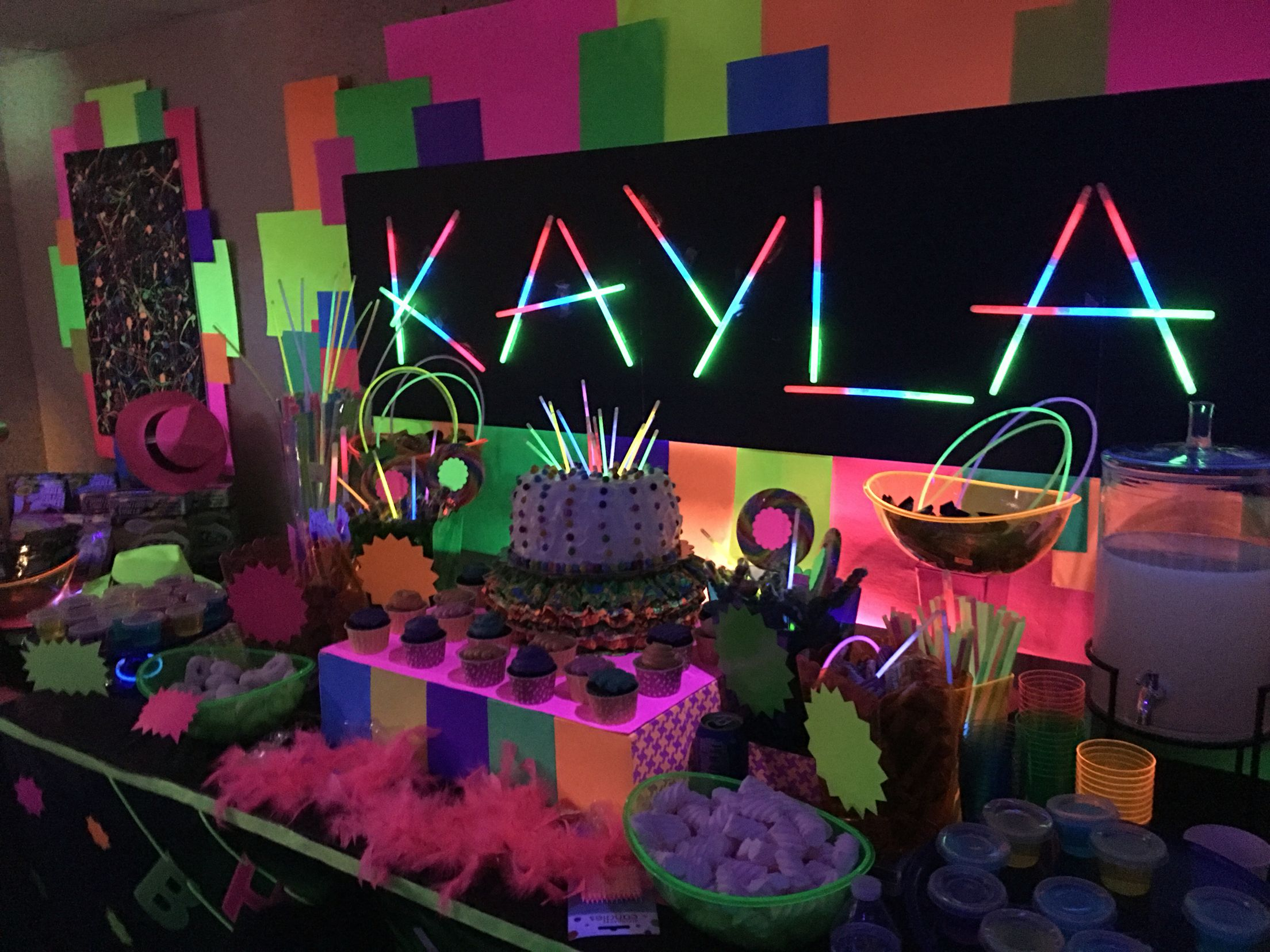 Created this dessertcandy buffet and decor for my daughter Kaylas
