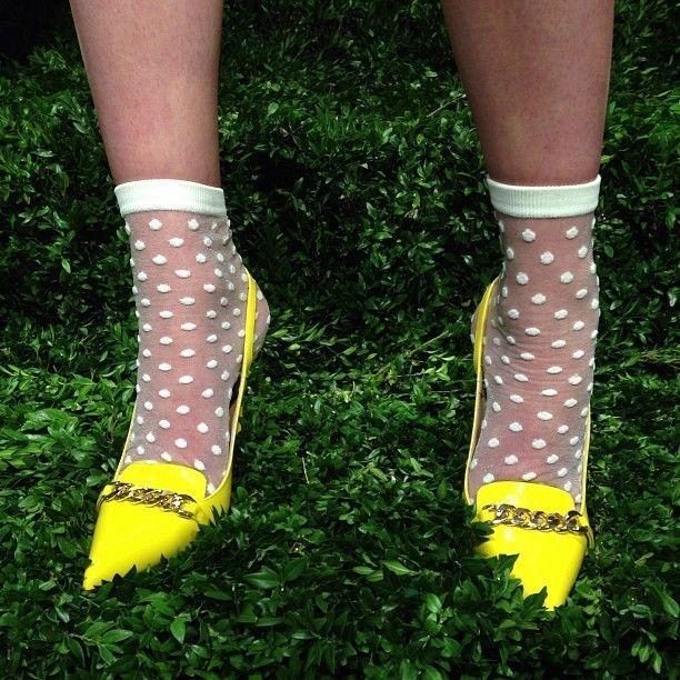 Socks and polka dots