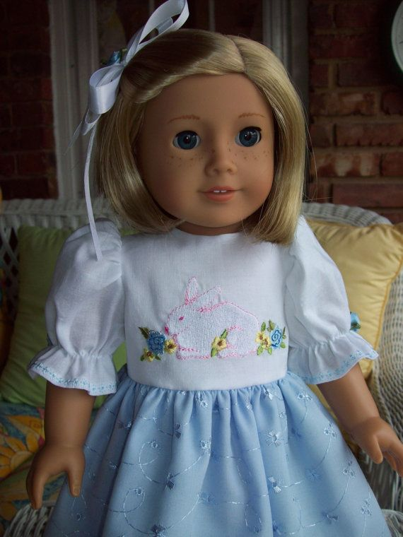 American Girl doll or 18 inch doll dress and hair by ASewSewShop ...
