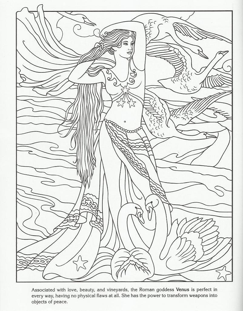 Venus Goddess Adult Coloring Mandalas Para Colorir Arte