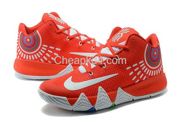 newest 6765b ae70f Latest Cheap New Arrival March New Cheap Kyrie 4 VI 4S University Red Multi  Color