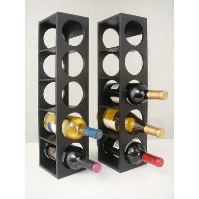 Proman Rutherford 5 Bottle Tabletop Wine Rack Finish: Black