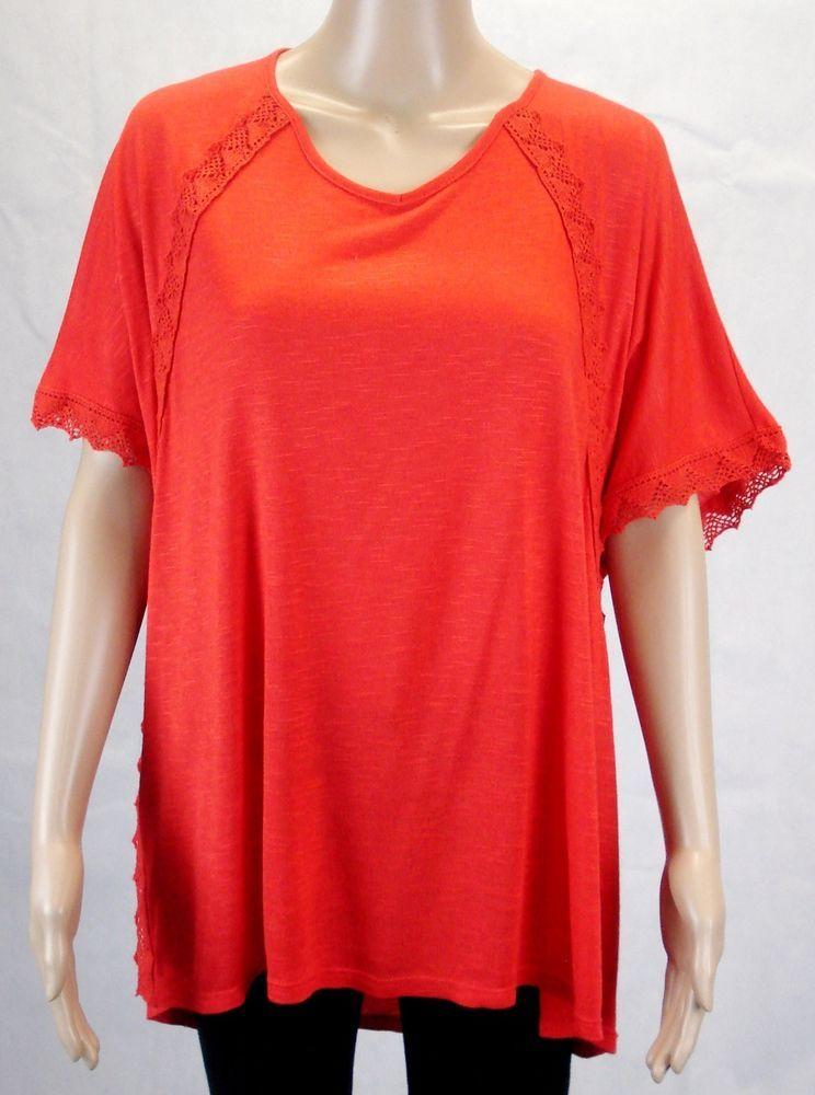 AUTOGRAPH Ladies Orange Short Sleeve Casual Blouse Evening Top Plus Size 18