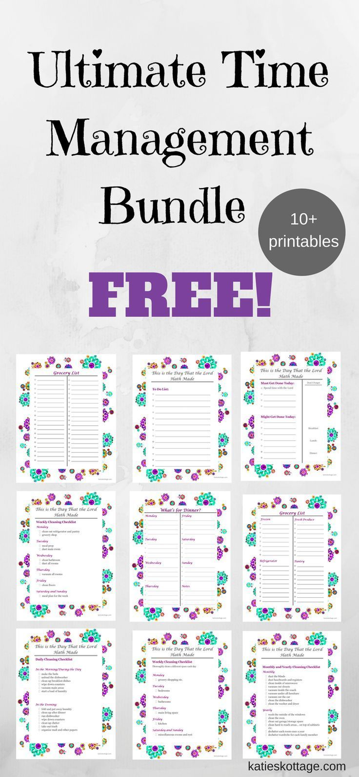 Get Your Ebook and Other Free Printables Time management