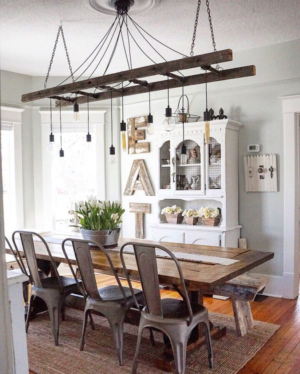 10 Diy Rustic Industrial Light Fixtures Rustic Dining Room