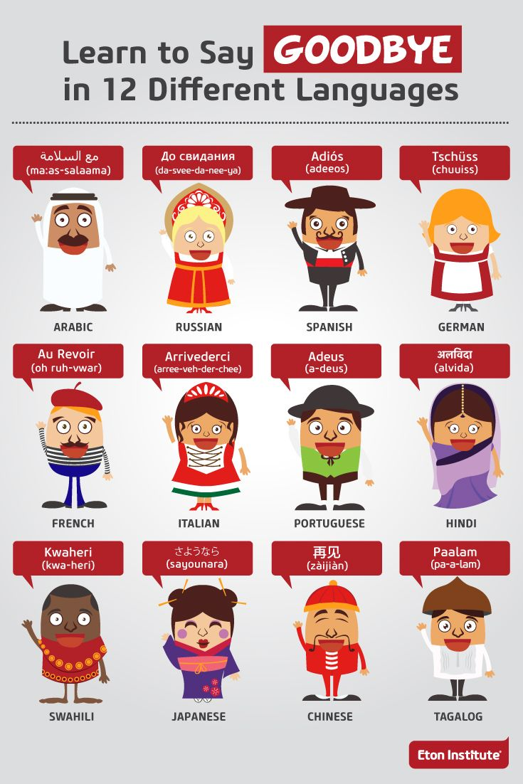Learn how to say goodbye in 12 languages infographic language learn to say goodbye in 12 different languages buycottarizona Image collections
