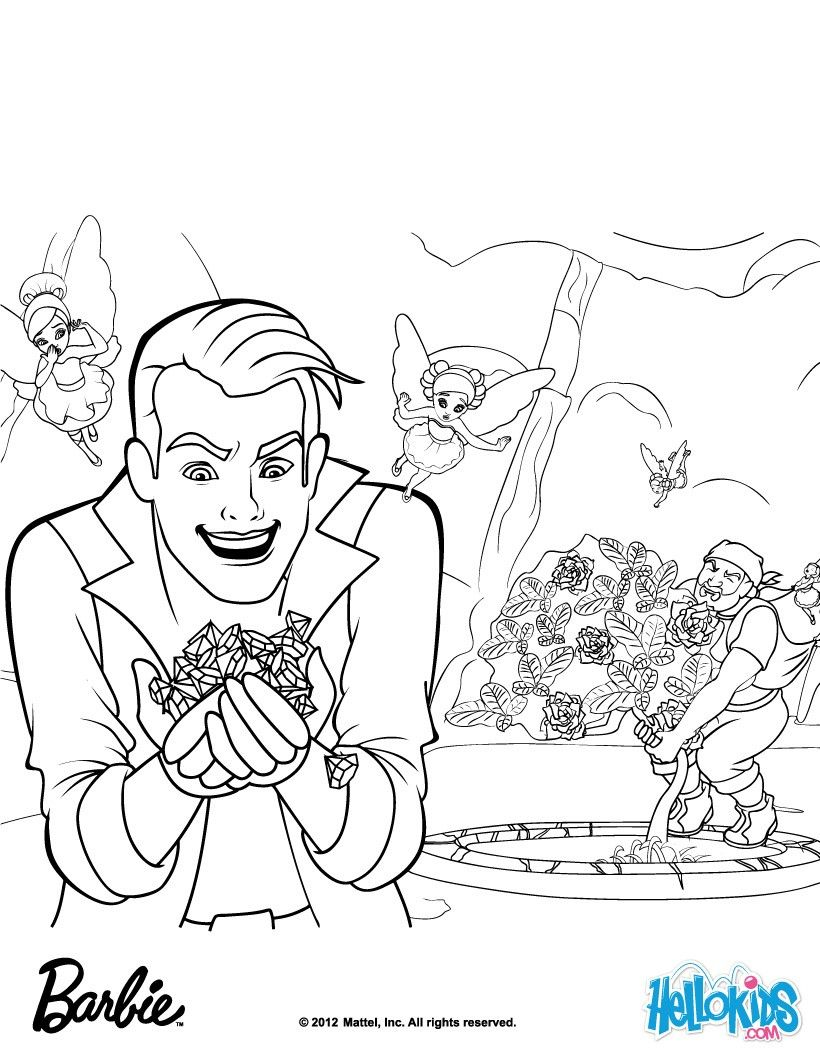 Crider and rupert uproot the diamond gardenia barbie coloring page
