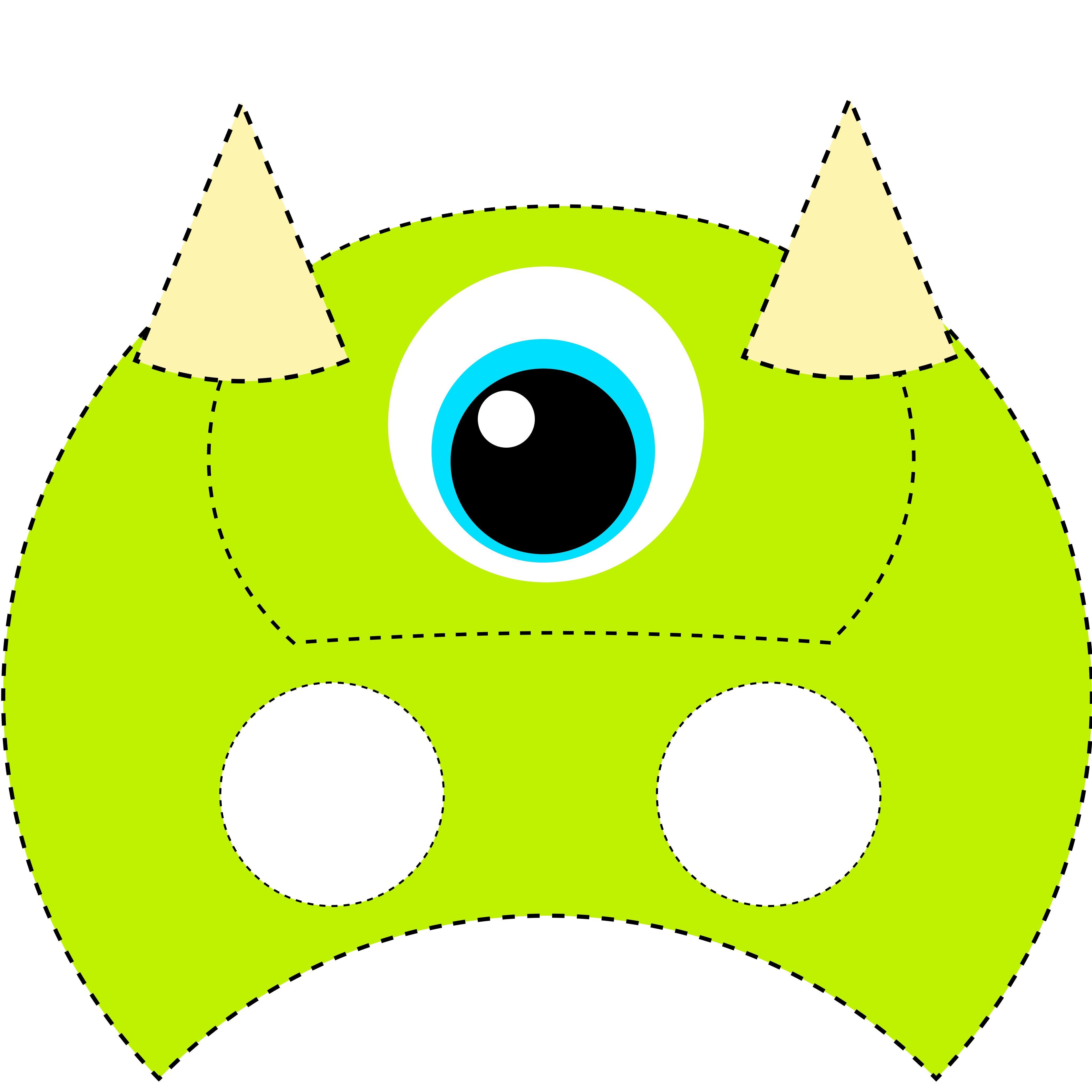 Máscara para niños de monstruos maik | pre school | Pinterest ...