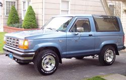 1986 Ford Bronco II - mine was same color....I loved it. Broncos no matter what year always still look good.
