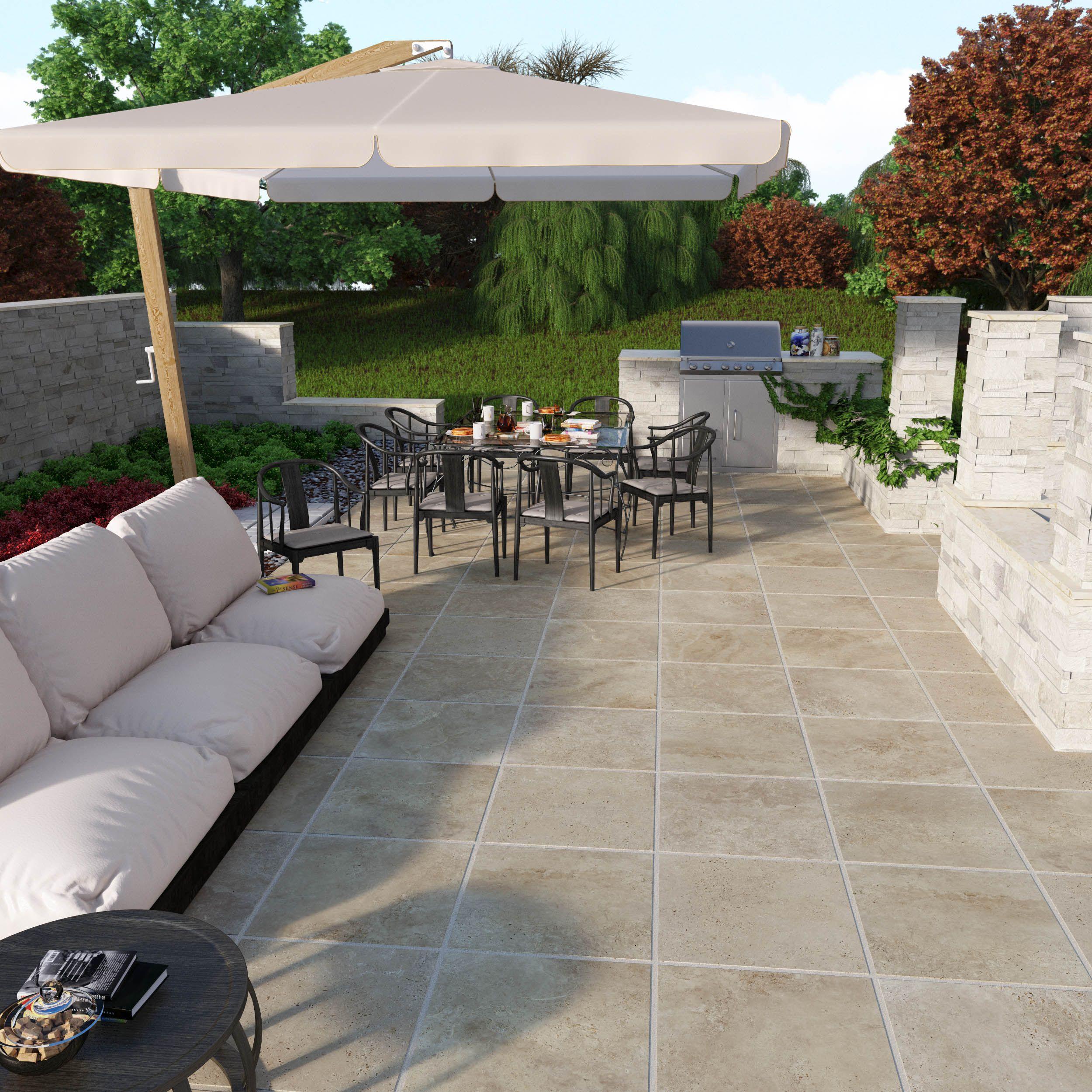 porcelain patio stone lowes