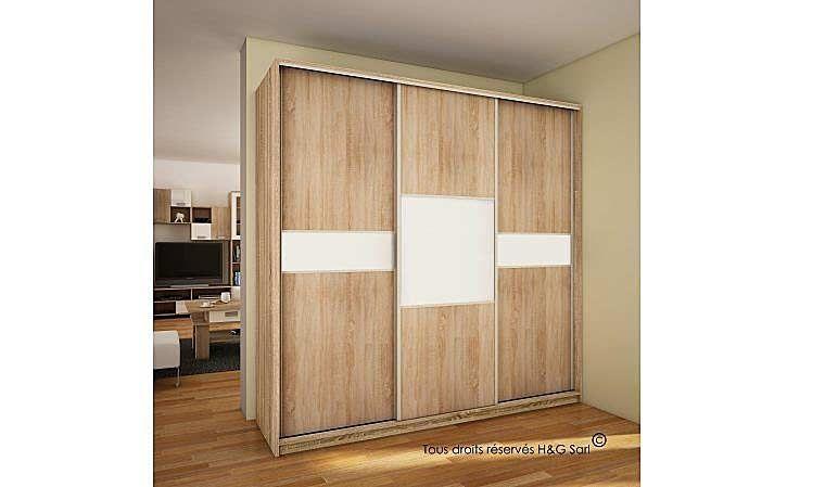 Armoire Chambre Porte Coulissante Dressing 3 Portes Coulissantes ...