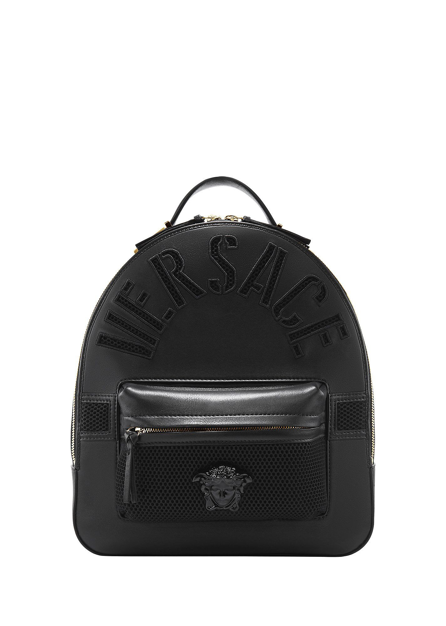 Versace embossed leather backpack versace bags leather