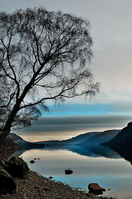 Right Before Sunrise Ullswater Lake Lake District National Park Cumbria England By Midlander1231 O Beautiful Nature Nature Beautiful Landscapes
