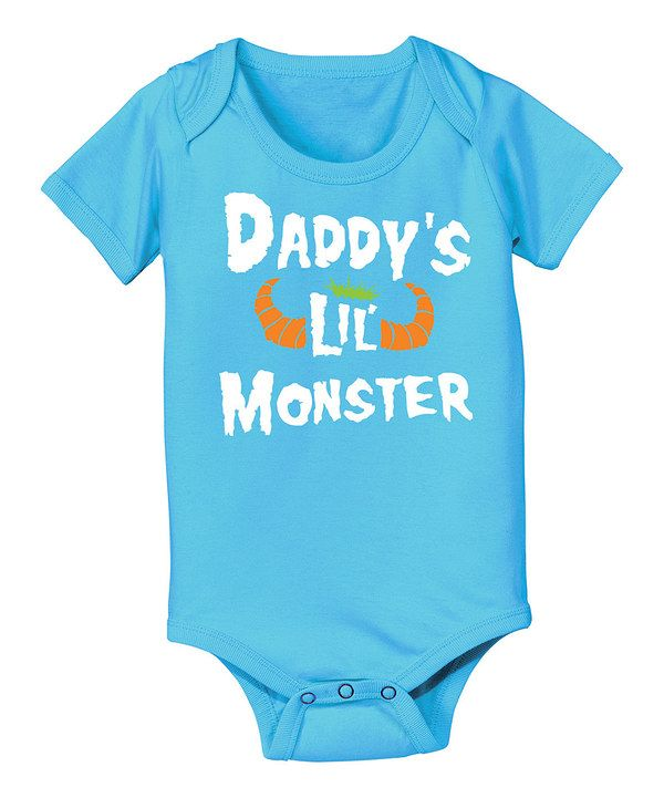 67e802dff34c Look at this Turquoise  Daddy s Lil  Monster  Bodysuit - Infant on ...