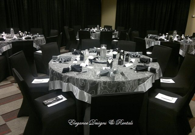 Fabulous Silver And Black Wedding Reception At Sheraton Huntsville Theyellowbook Wood Chair Design Ideas Theyellowbookinfo