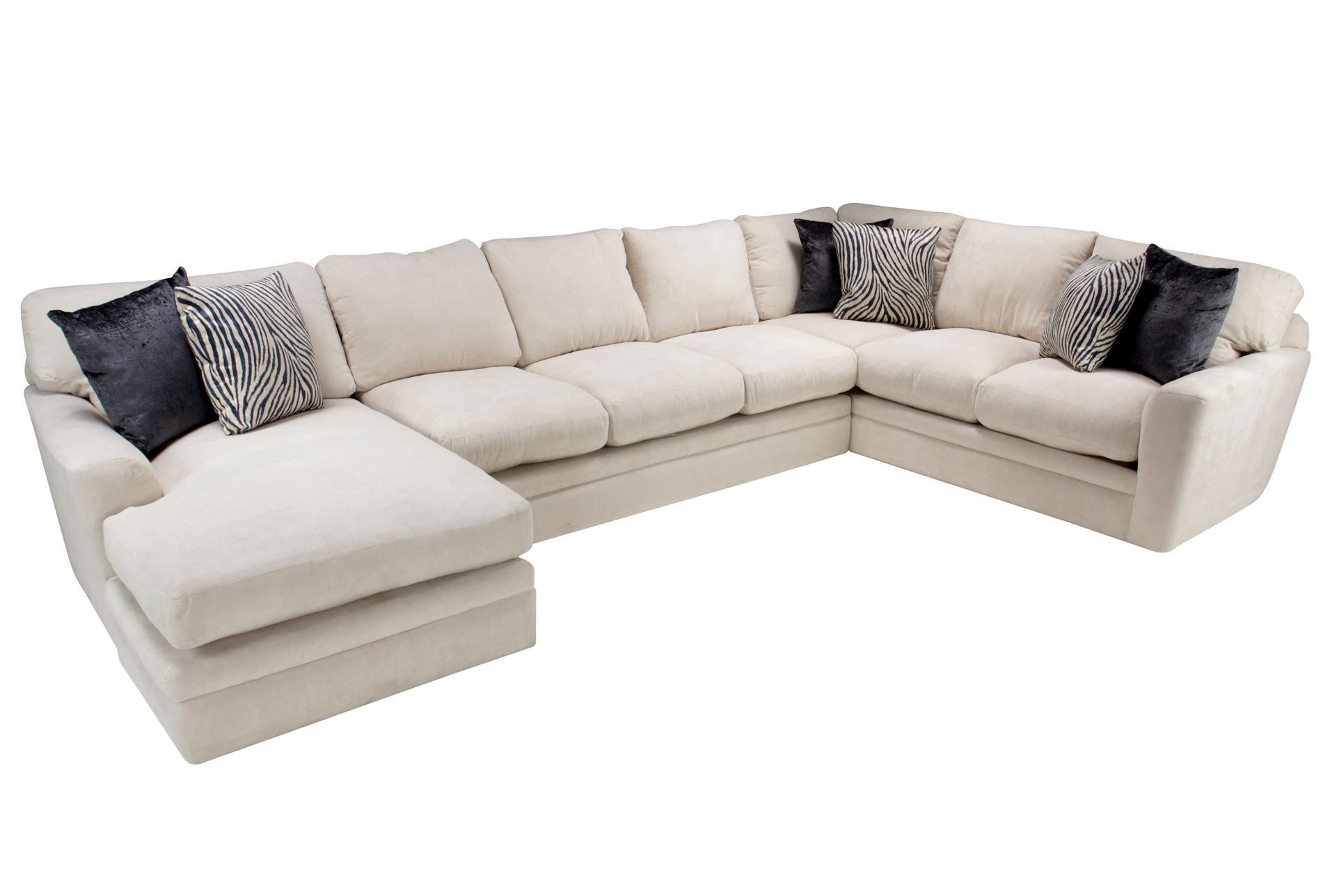 Glamour 3 Piece Sectional Living Spaces Furniture Living Spaces