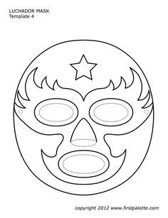 luchador mask template art lesson ideas pinterest