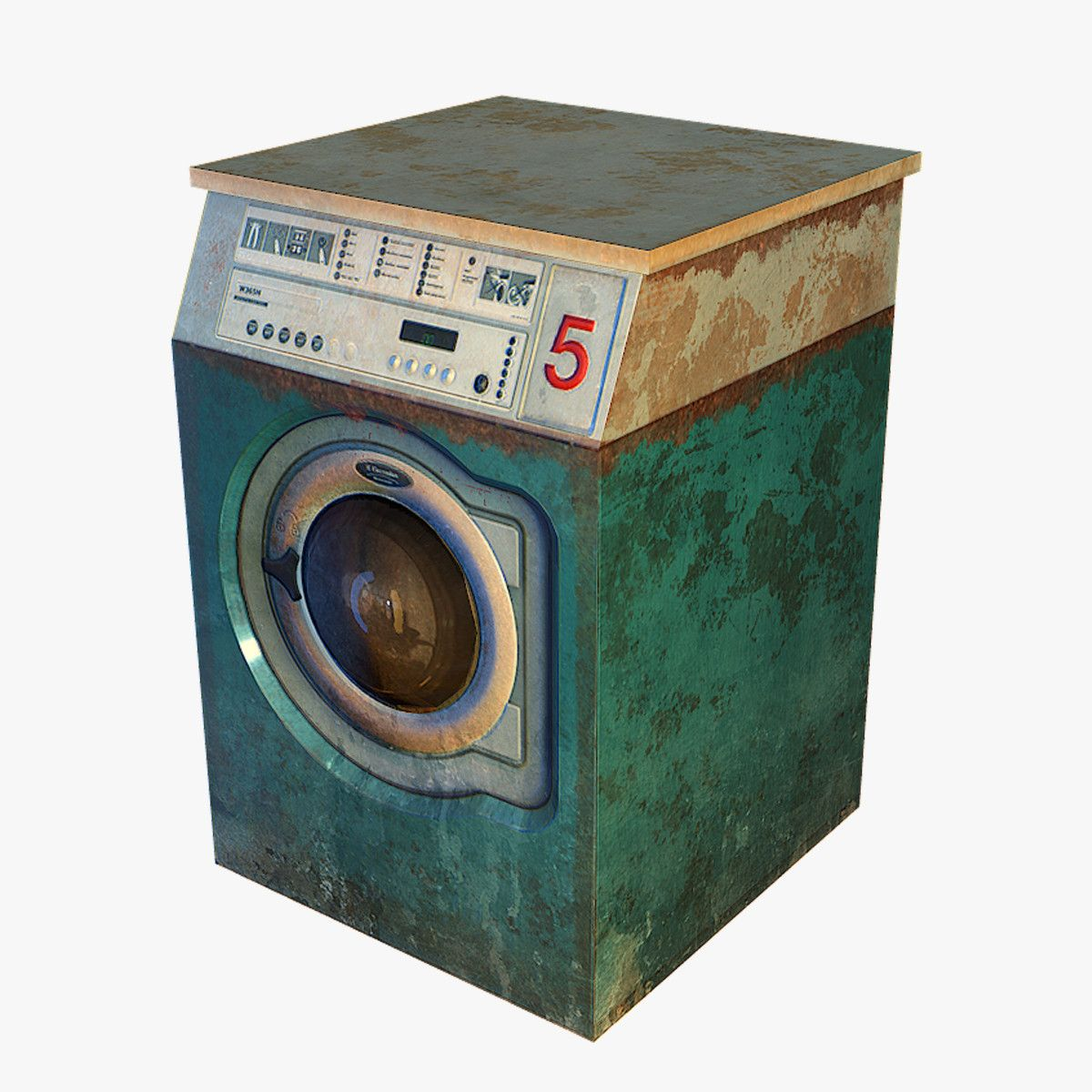 3D max Washing machine wash