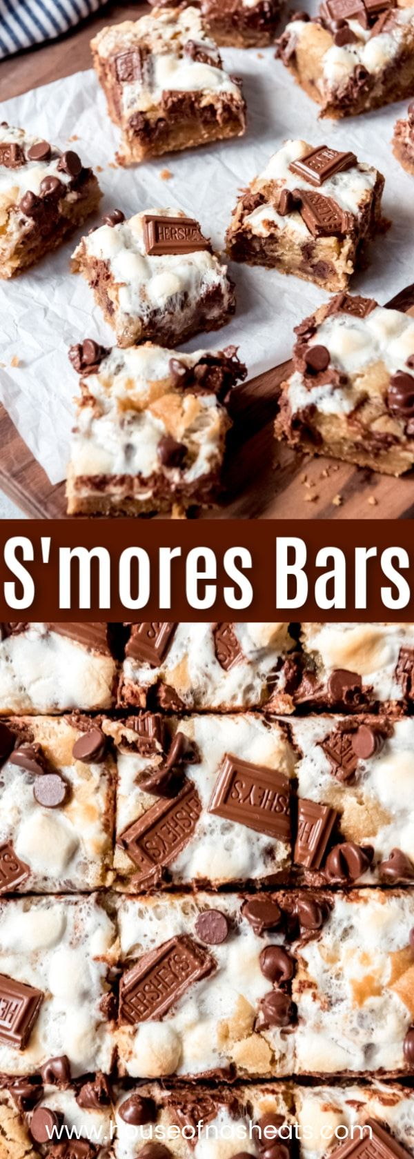 S'mores Bars #chocolatemarshmallowcookies