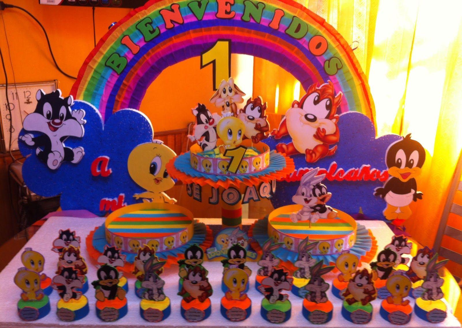 decoracion cumpleaños looney tunes - Buscar con Google | para el ...