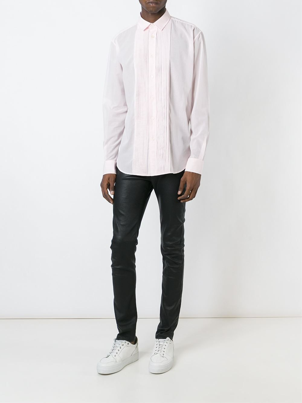 Saint Laurent pleated panel shirt