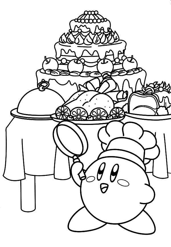 Kirby The Chef Coloring Pages Kids Play Color Coloring Pages Coloring Books Coloring Pages For Teenagers