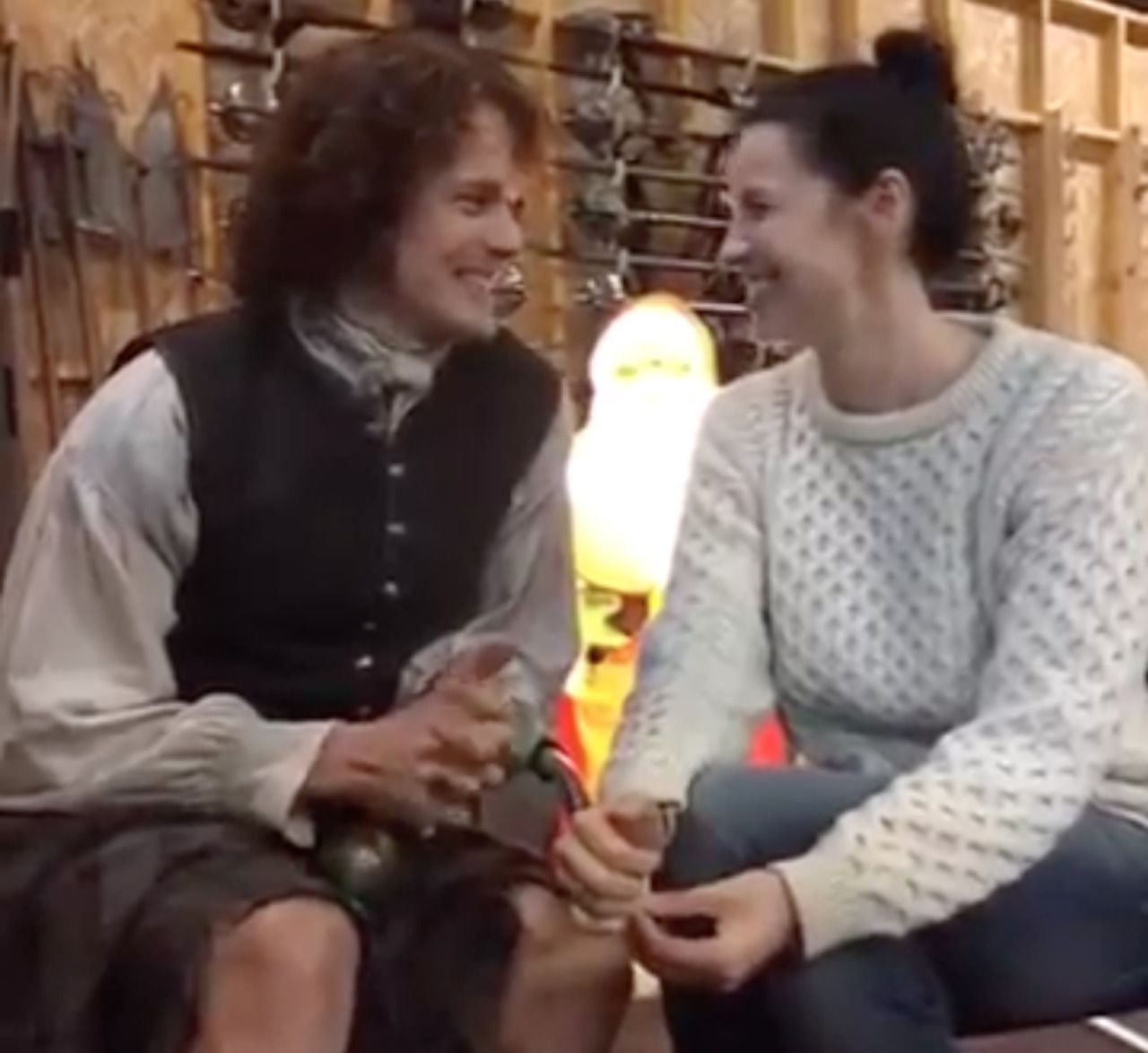sam and caitriona : Photo   Sam heughan, Jamie and claire