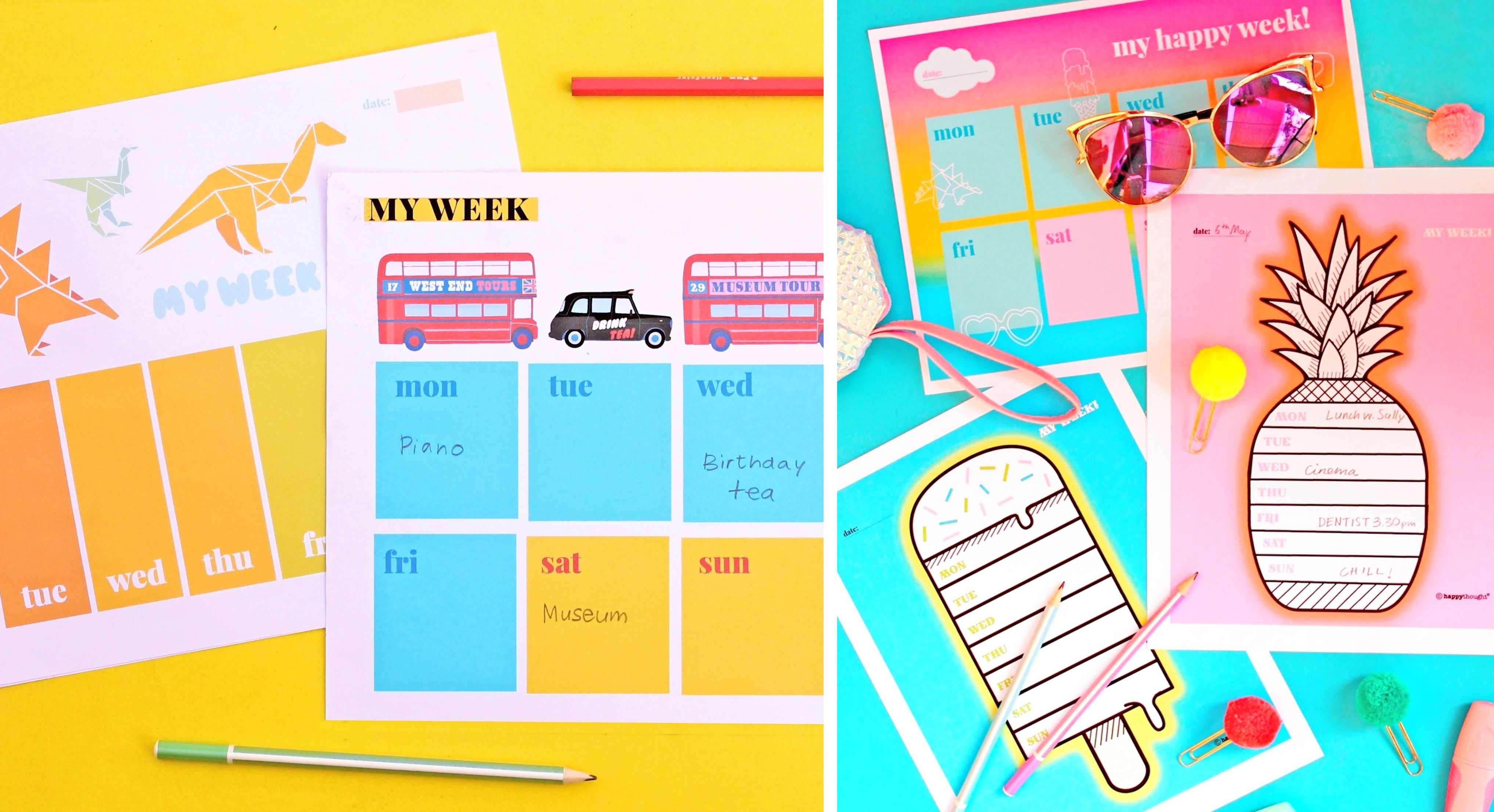 Printable Weekly Planners Free To Happythought Members
