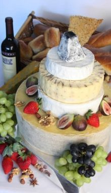 """Cheese"" cake for a vineyard wedding  <3"