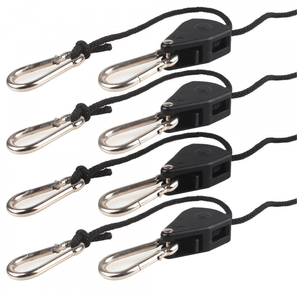 Rope Ratchet Hanger Kit Adjustable Heavy Duty For Grow Tent And Filters 1 4 Pair Ebay Light Hanger Grow Lights Grow Tent