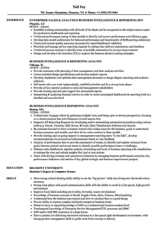 Community Service On Resume Qlik Sense Resume Business Intelligence Analyst Business Intelligence Job Resume Samples