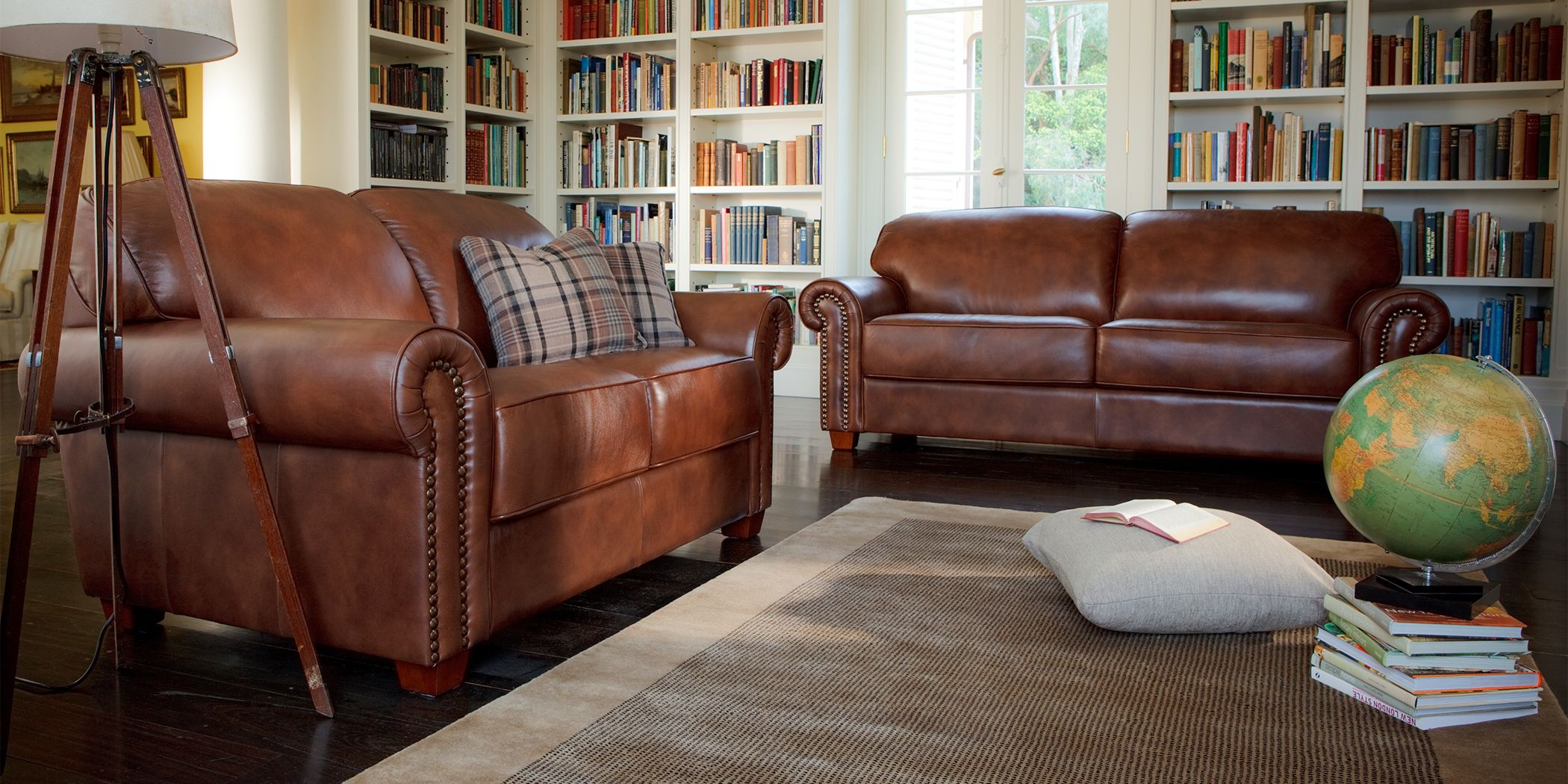 Cambridge Sofa Comfortable Sofa Plush Sofa Brown Leather Couch