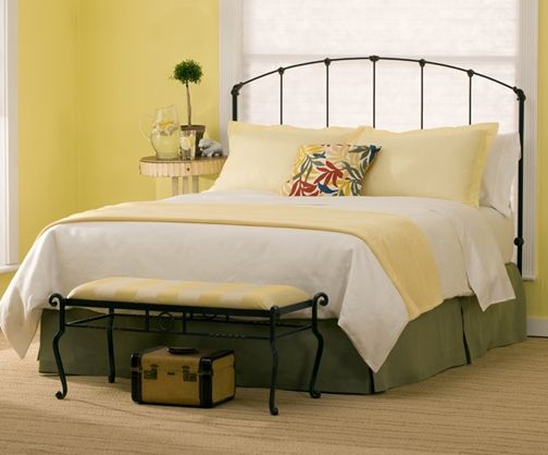 Rutherford Original Iron Bed- Queen Headboard W/ Mattress and ...