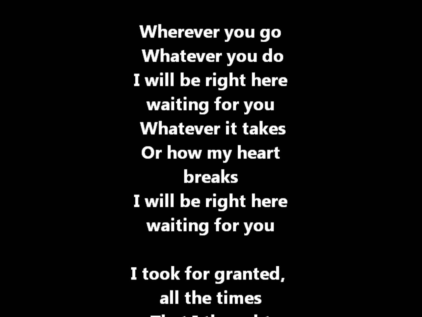 Richard Marx Right Here Waiting For You Lyrics Beautiful Song Chanson