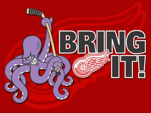 Detroit Red Wings, baby!! Only team to make it to the Playoffs for ...