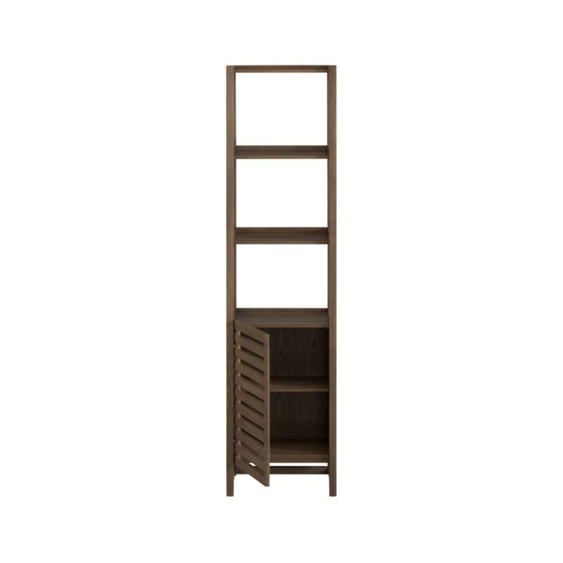 Banya Smoked Oak Tower | Bathroom furniture, Tower and Crates