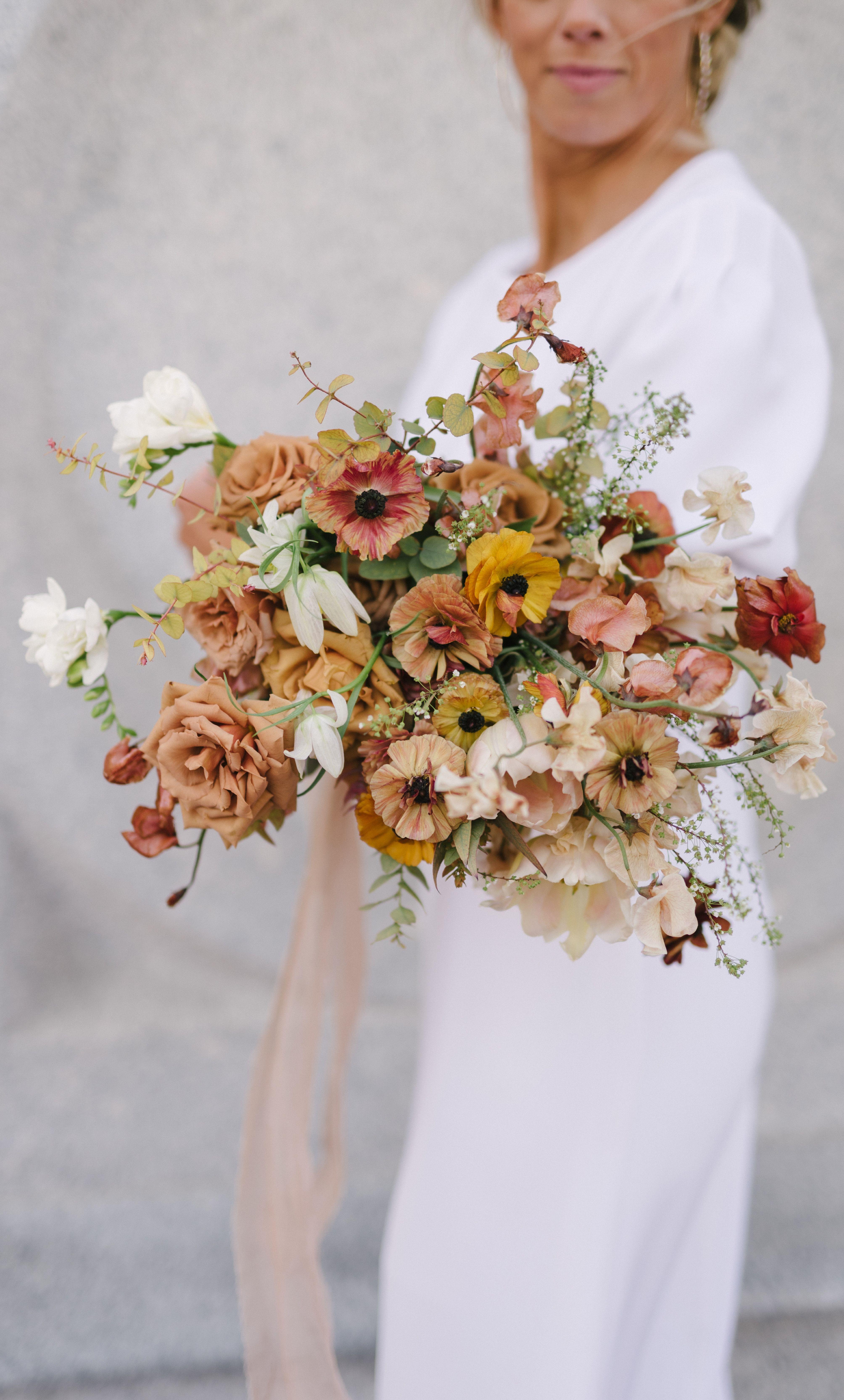 colorful bouquet colorful flowers tinge