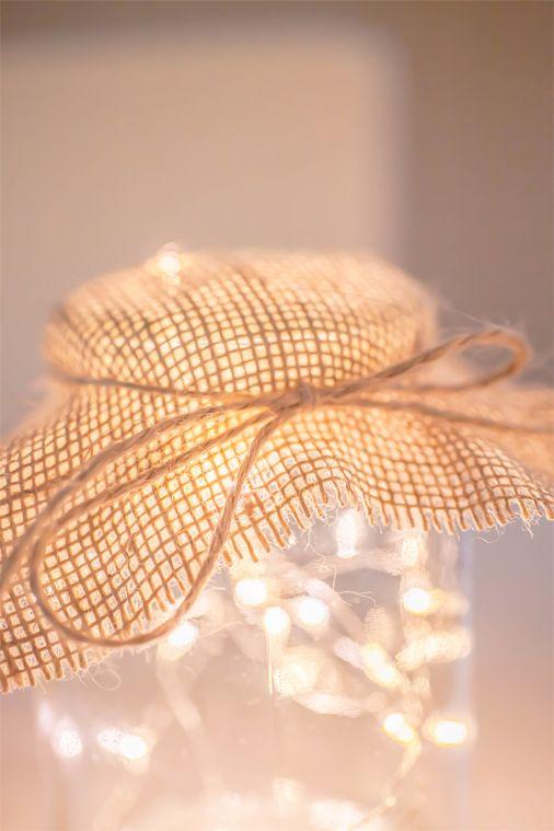 Cute mason jar fairy lights using Lights4fun micro LED copper wire ...
