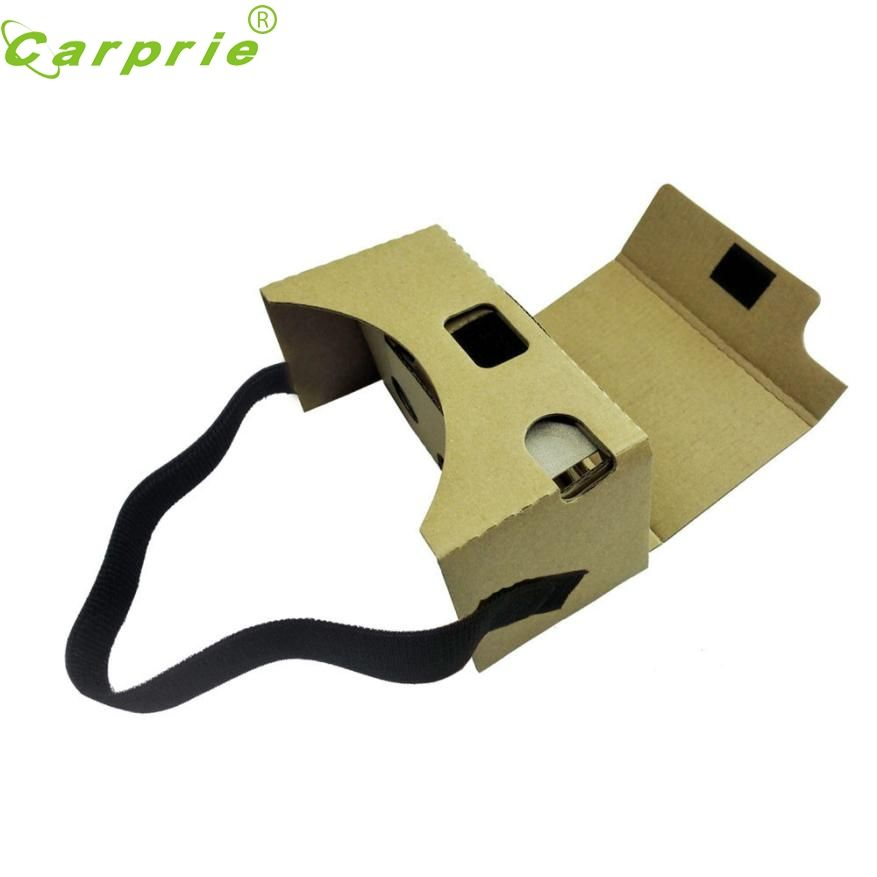 Top Quality New For Google Cardboard V2 3D Glasses VR Valencia Quality Max Fit 6Inch Phone + Headband FE9