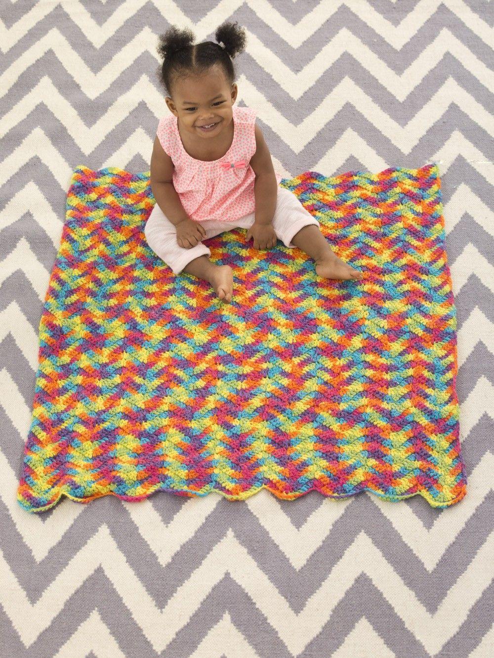 Technicolor Ripple Afghan (Crochet)   Crochet & Knits   Pinterest