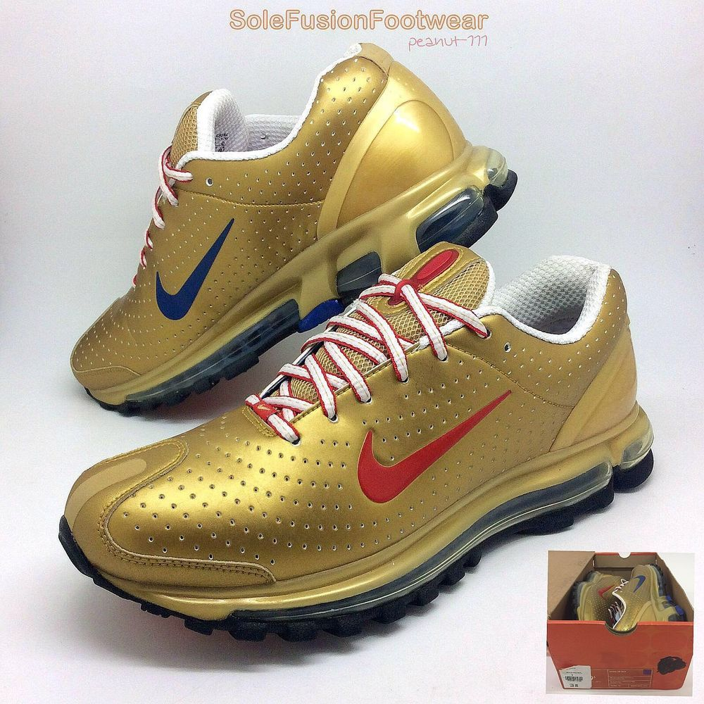 Nike Womens Air Max Trainers Gold/Red