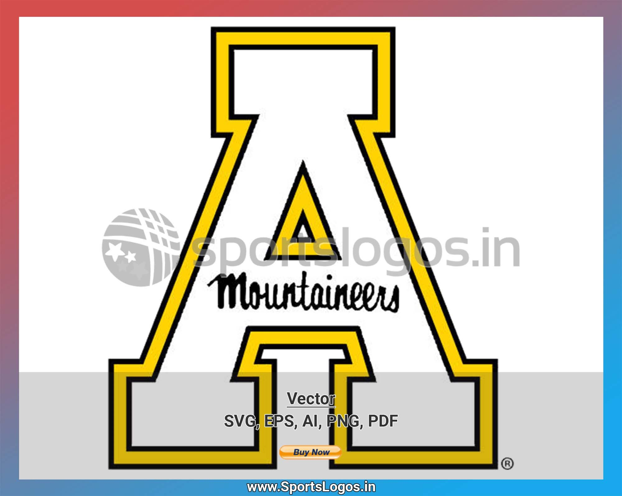 Appalachian State Mountaineers College Sports Vector SVG