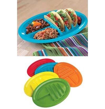 Taco plates for taco night